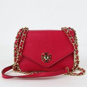 Clutch Mini Chain Women's Hot Pink Cross Body Bag